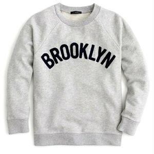 "J. CREW ""Brooklyn"" Pullover Gray Sweatshirt XS"